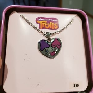 Trolls charm necklace stainless steel